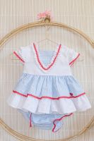 Girls Dolce Petit Red, White and Blue Dress and Pants 2006