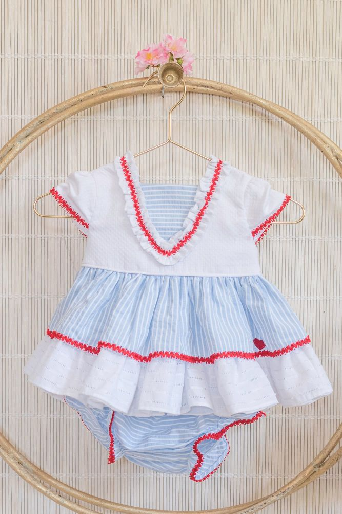 PRE ORDER SS20 Girls Dolce Petit Red, White and Blue Dress and Pants 2006