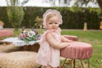 Girls Dolce Petit Powder Pink Dress and Pants 2114