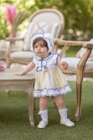 Girls Dolce Petit Lemon and Navy Dress and Pants 2122