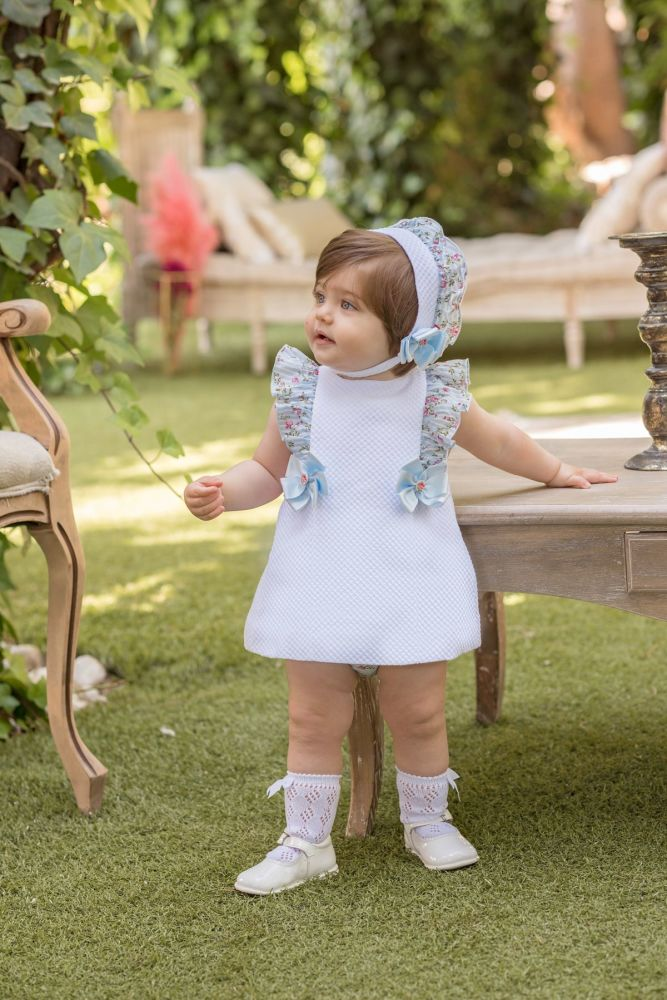 PRE ORDER SS20 Girls Dolce Petit Blue and White Dress and Pants 2125
