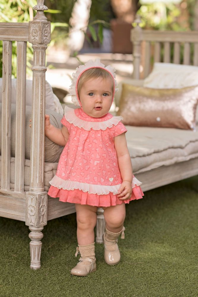PRE ORDER SS20 Girls Dolce Petit Coral Dress and Pants 2133