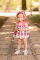 Girls Dolce Petit Coral Dress and Pants 2134