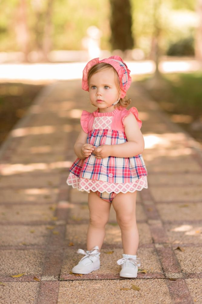 PRE ORDER SS20 Girls Dolce Petit Coral Dress and Pants 2134