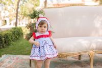 Girls Dolce Petit Red, White and Blue Dress and Pants 2135