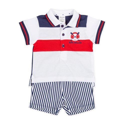 PRE ORDER SS20 Boys Tutto Piccolo Polo Shirt and Shorts Set 8691