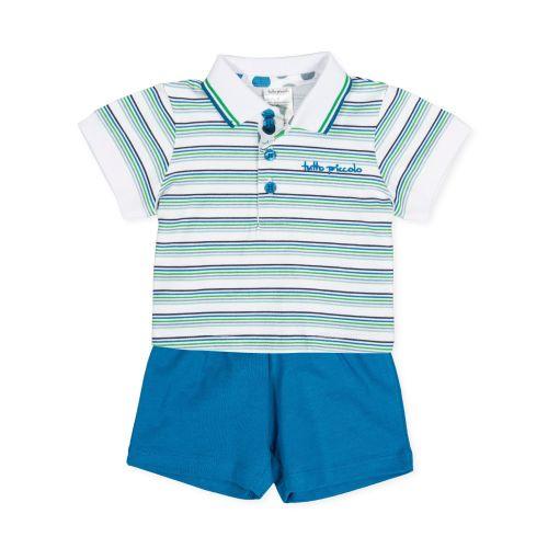 PRE ORDER SS20 Boys Tutto Piccolo Polo Shirt and Shorts Set 8688