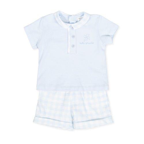 PRE ORDER SS20 Boys Tutto Piccolo Polo Shirt and Shorts Set 8582