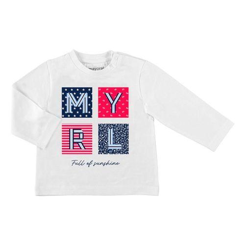 Boys Mayoral Long Sleeve T Shirt 1053 - White
