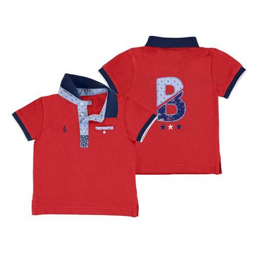 Boys Mayoral Polo Shirt 1146 - Hibiscus