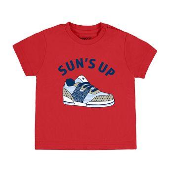 Boys Mayoral Short Sleeve T Shirt 1040 - Hibiscus