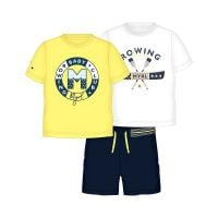 Boys Mayoral Top and Shorts Set 1692 - Yellow (includes 2 T Shirts)