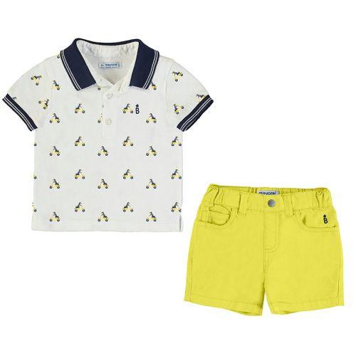 Boys Mayoral Polo Shirt and Shorts Set 1295 - Yellow