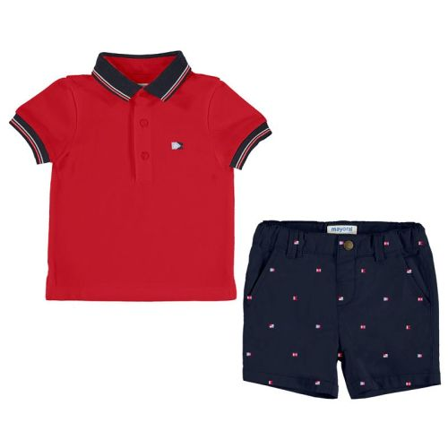 Boys Mayoral Polo Shirt and Shorts Set 1296 - Navy