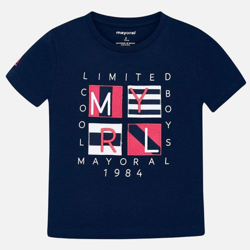Boys Mayoral Short Sleeve T Shirt 3056 - Navy