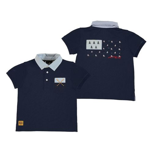Boys Mayoral Polo Shirt 3156 - Navy