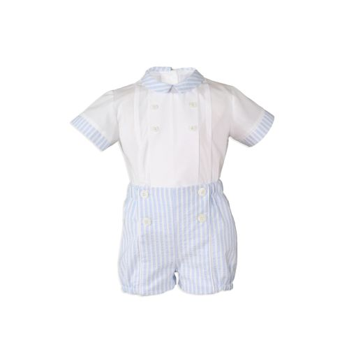 PRE ORDER SS20 Boys Miranda Blue and White Set 147