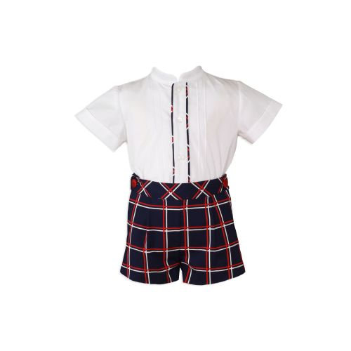 PRE ORDER SS20 Boys Miranda Navy, Red and White Set 155
