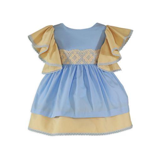 PRE ORDER SS20 Girls Miranda Blue and Camel Dress 245