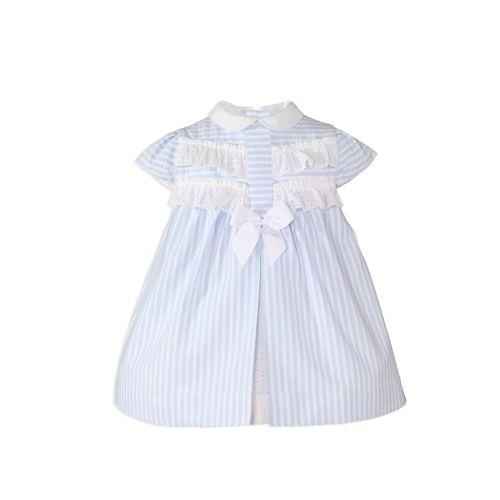 PRE ORDER SS20 Girls Miranda Blue and White Dress 147