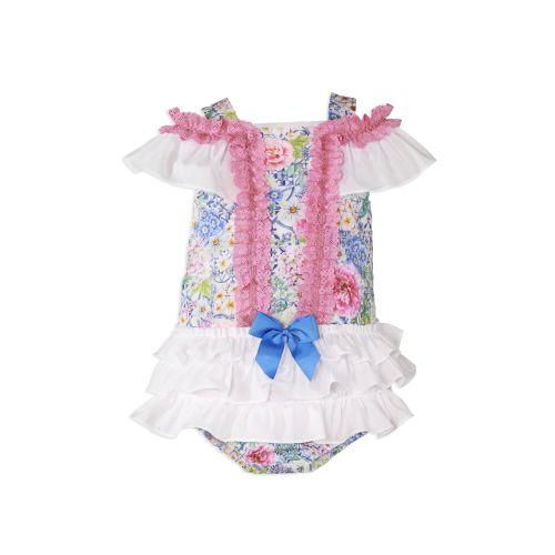 PRE ORDER SS20 Girls Miranda Floral Dress and Pants 152