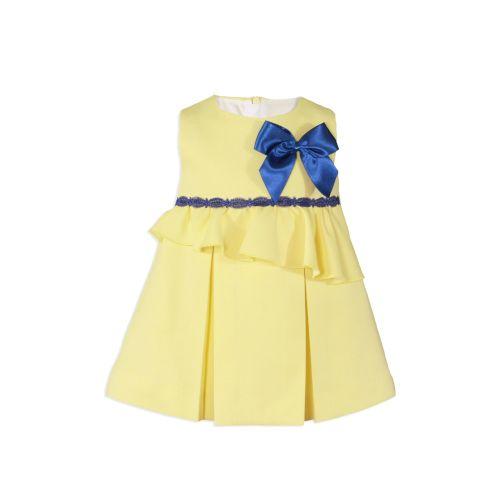 PRE ORDER SS20 Girls Miranda Lemon, Navy and White Dress 140