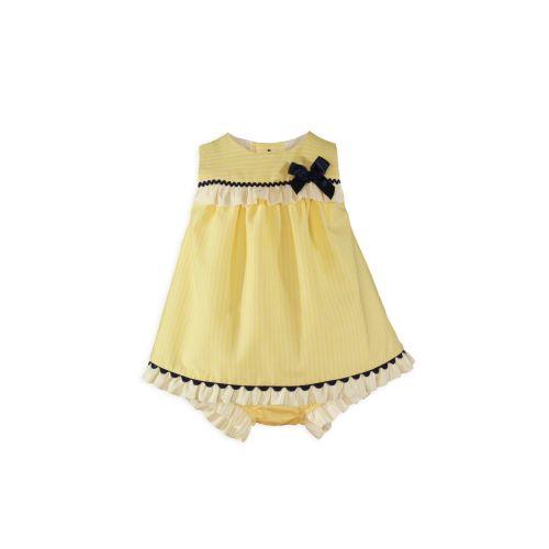 PRE ORDER SS20 Girls Miranda Lemon, Navy and White Dress and Pants 50