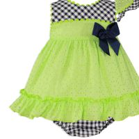 Girls Miranda Lime and Navy Dress and Pants 173