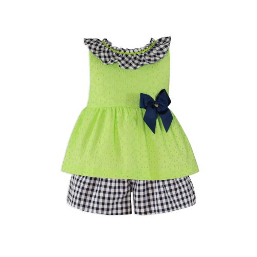 PRE ORDER SS20 Girls Miranda Lime and Navy Skirt Set 273