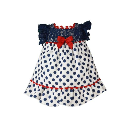 PRE ORDER SS20 Girls Miranda Navy, Red and White Dress 161