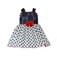 Girls Miranda Navy, Red and White Dress 261