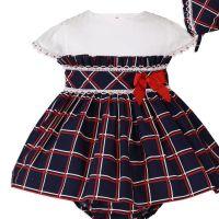 Girls Miranda Navy, Red and White Dress and Pants 156