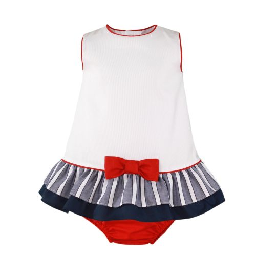 PRE ORDER SS20 Girls Miranda Navy, Red and White Dress and Pants 186