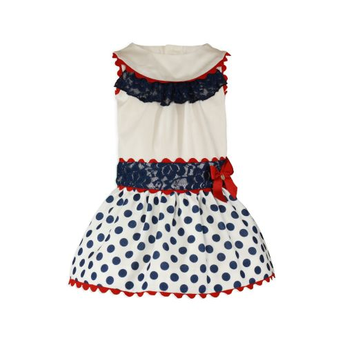 PRE ORDER SS20 Girls Miranda Navy, Red and White Skirt Set 261