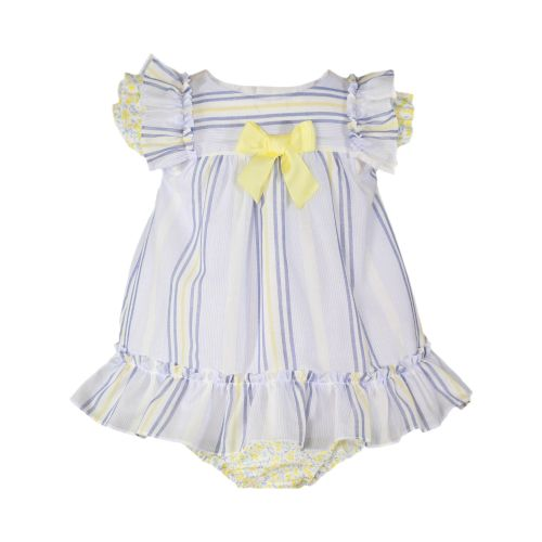 PRE ORDER SS20 Girls Miranda Navy, White and Lemon Dress and Pants 62