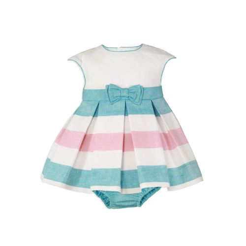 PRE ORDER SS20 Girls Miranda Turquoise and White Dress and Pants 135