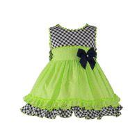 Girls Miranda Lime and Navy Dress 273