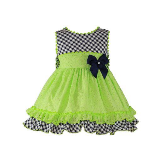 PRE ORDER SS20 Girls Miranda Lime and Navy Dress 273