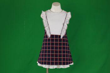 Girls Miranda Navy, Red and White Dress 356