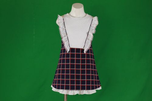 PRE ORDER SS20 Girls Miranda Navy, Red and White Dress 356
