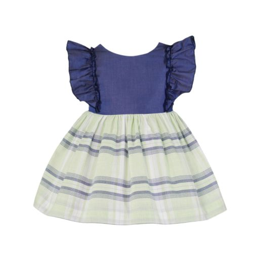 PRE ORDER SS20 Girls Miranda Navy, White and Lemon Dress and Pants 504