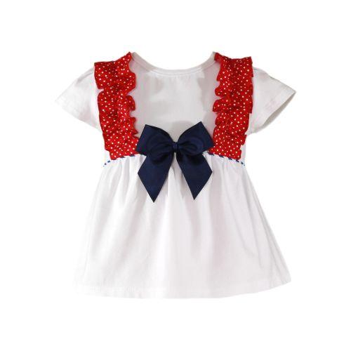 PRE ORDER SS20 Girls Miranda Red, White and Blue Shorts Set 600