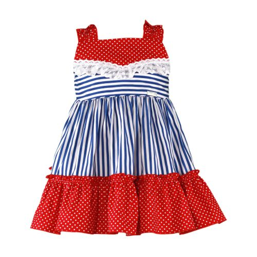 PRE ORDER SS20 Girls Miranda Red, White and Blue Dress 600