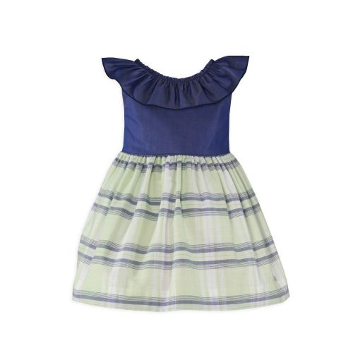 PRE ORDER SS20 Girls Miranda Navy, White and Lemon Dress 604