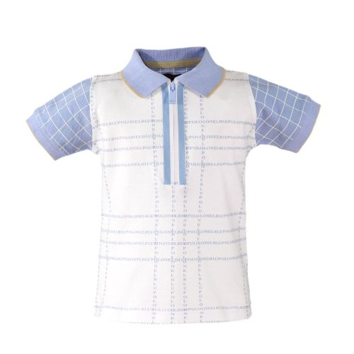 PRE ORDER SS20 Boys Miranda Blue and White Polo by Nel Blu 1113