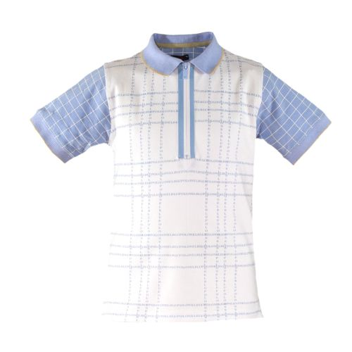 PRE ORDER SS20 Boys Miranda Blue and White Polo by Nel Blu 1313