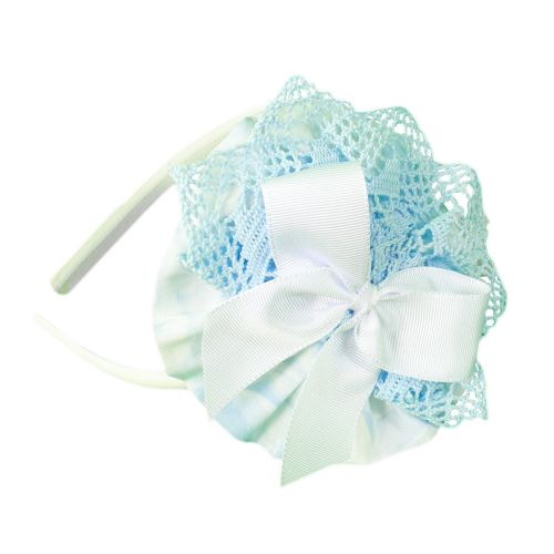 PRE ORDER SS20 Girls Miranda Blue and White Headpiece 246