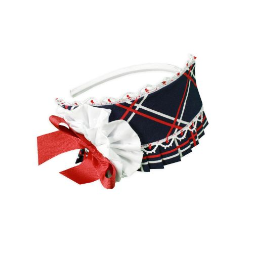 PRE ORDER SS20 Girls Miranda Navy, Red and White Headpiece 256