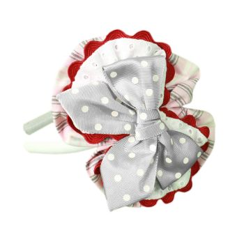 Girls Miranda Navy, Red and White Headpiece 270