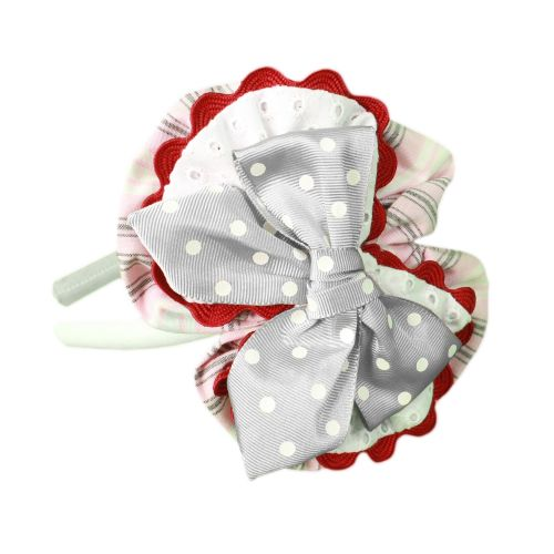 PRE ORDER SS20 Girls Miranda Navy, Red and White Headpiece 270